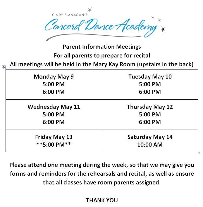 Parent Meetings B 2016